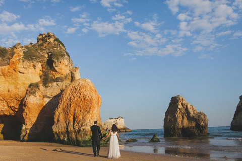 Algarve beach ceremony Wedding Photographer