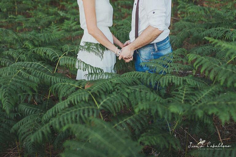 fotografia de pareja en una preboda
