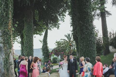 ceremony venue vintage castle forgetting married in Spain Destination wedding parador Spain