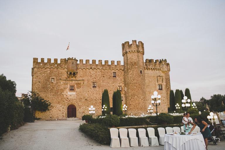 Decoracion boda civil Castillo de las Arguijuelas