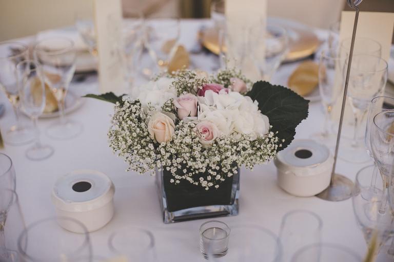 decoracion de centro de mesa en boda civil religiosa Decoracion boda civil Castillo de las Arguijuelas