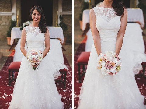 Bride With A Dress Of Rosa Clara During Destination Wedding In Spain From London