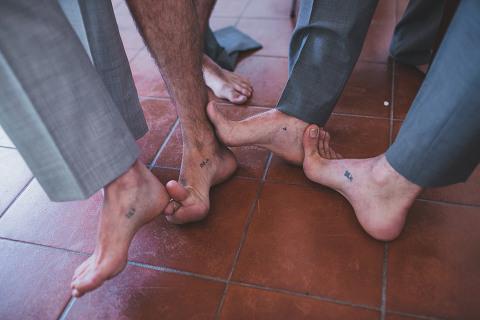 groom and groomsmen preparatives