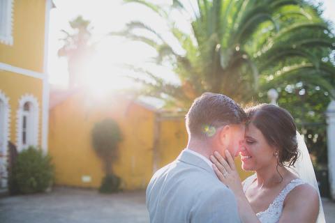 Sintra Quinta Santa Ana wedding photographer bride dress Kenneth Winston