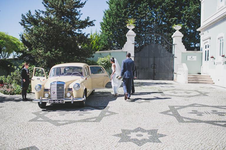 mercedes old car wedding