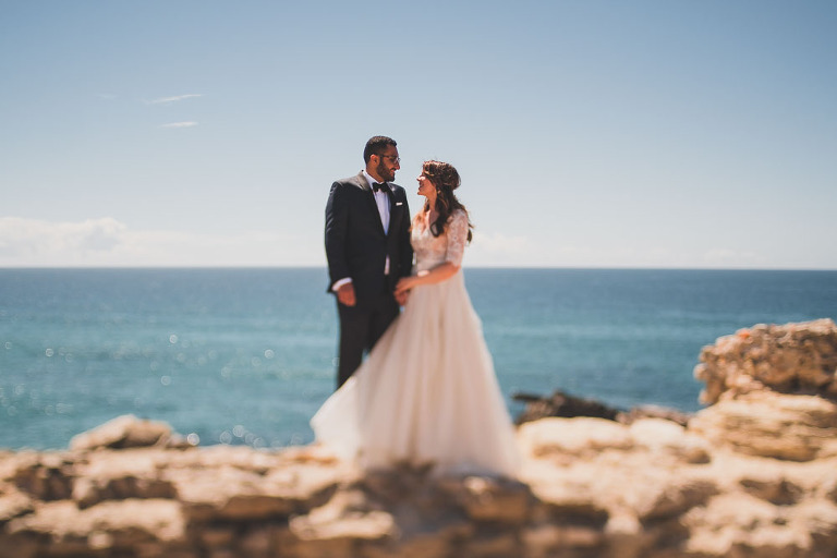 Lisbon cliffs elopement photographer E-S