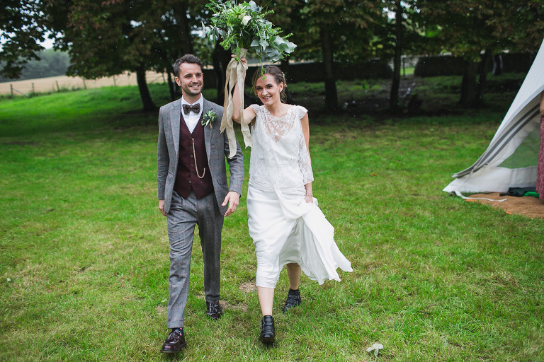 East Sussex Rainy Festival Wedding photographer - Kerry-Matt